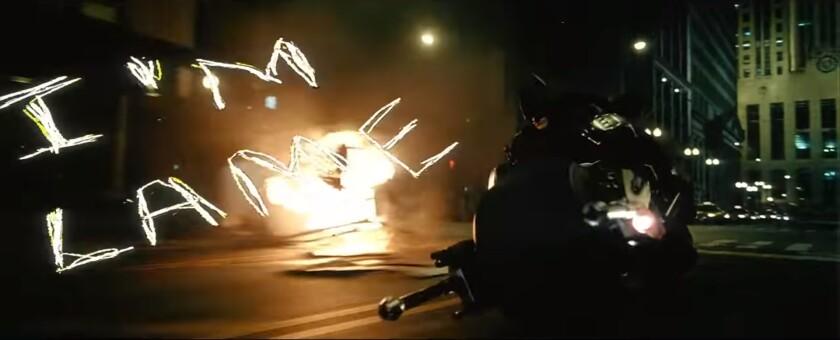 "A screen shot of the ""Jokerized"" trailer hidden in the ""Dark Knight"" video."