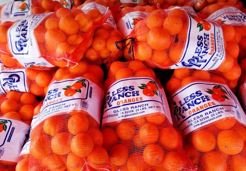 California orange groves