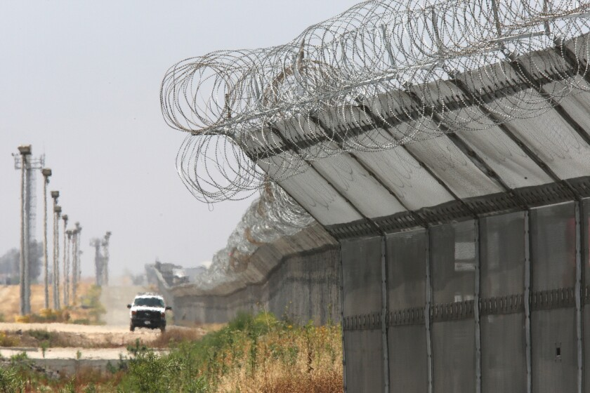 The heavily fortified border south of San Diego. The family of Anastasio Hernandez-Rojas, who died at the San Ysidro crossing in 2010, has petitioned a human rights panel in the case.