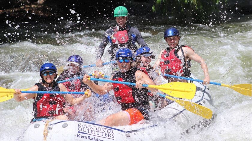 Rafting on Kern River guided by Kern River Outfitters.