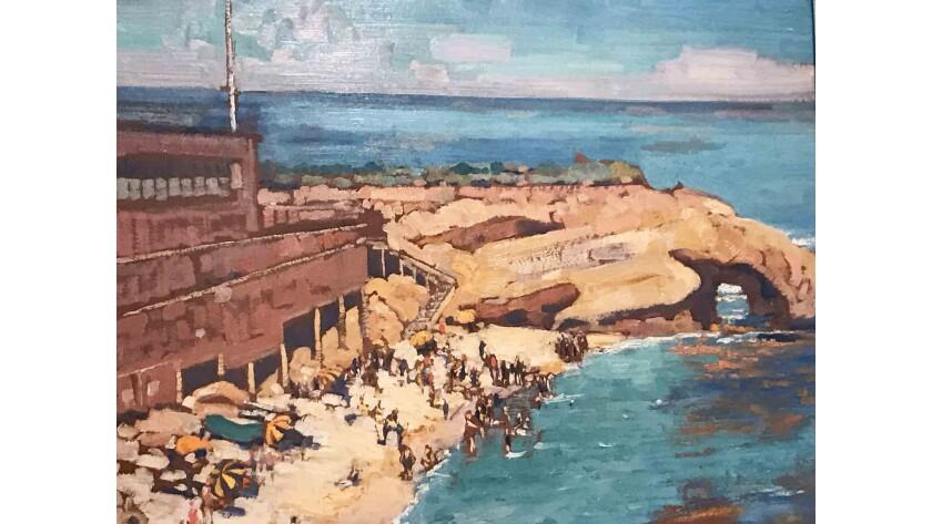 "Alson Clark's 1928 ""La Jolla Cove"" is showcased in the Hilbert Museum of California Art"