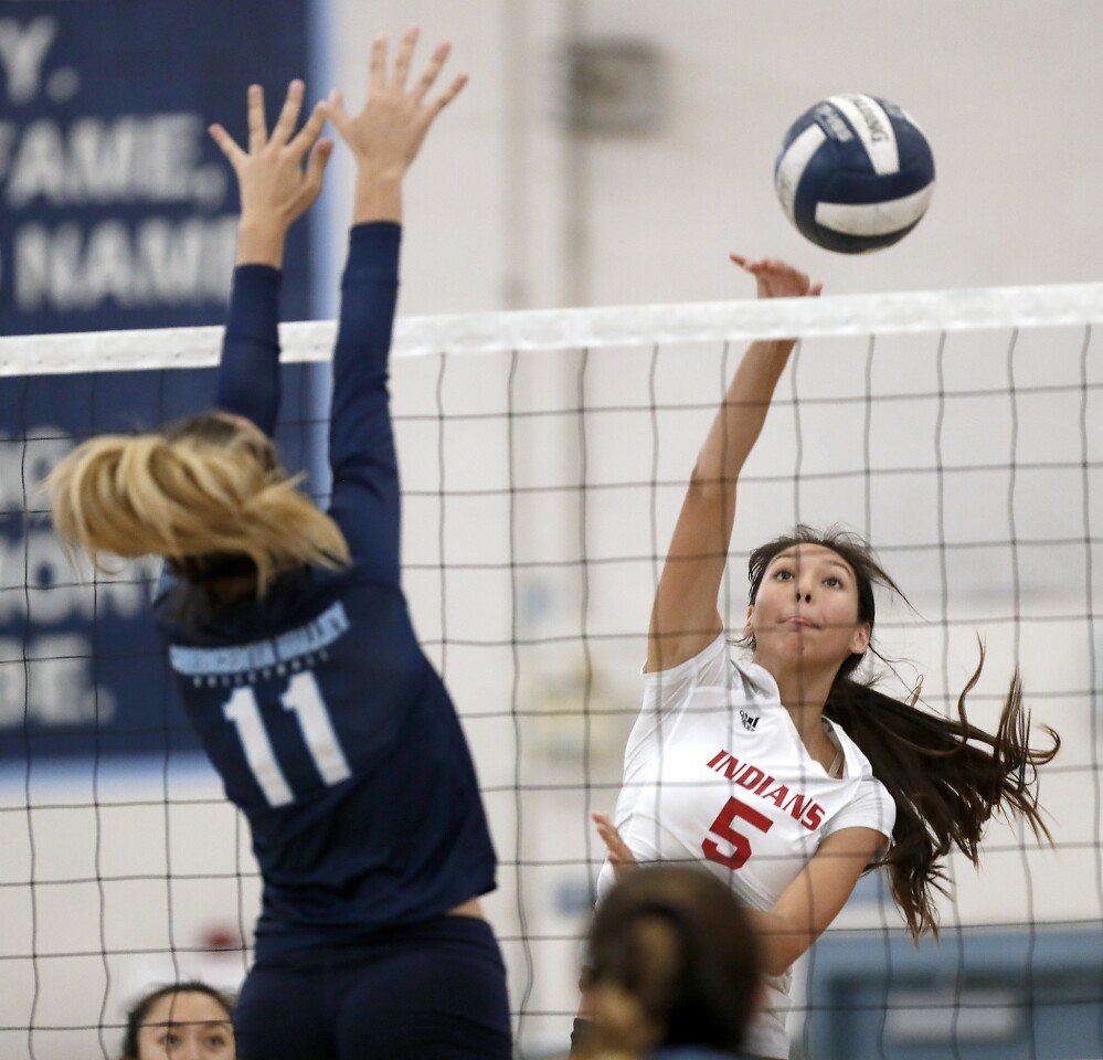 Photo Gallery: Crescenta Valley vs. Burroughs girls volleyball