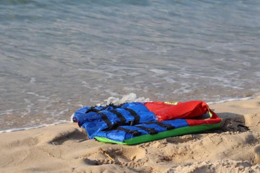 Life jackets on the beach in Libya