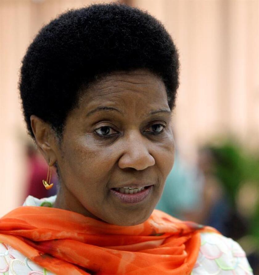 Aumentar el número de mujeres en cargos de responsabilidad es fundamental para seguir progresando en la lucha contra el acoso sexual, avisa la directora ejecutiva de ONU Mujeres, Phumzile Mlambo-Ngcuka. EFE/ARCHIVO