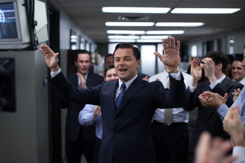 """Leonardo DiCaprio as Jordan Belfort in """"The Wolf of Wall Street."""""""