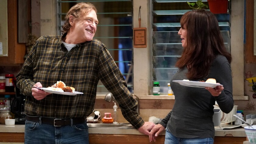 "John Goodman and Katey Sagal in ""The Conners"" on ABC."