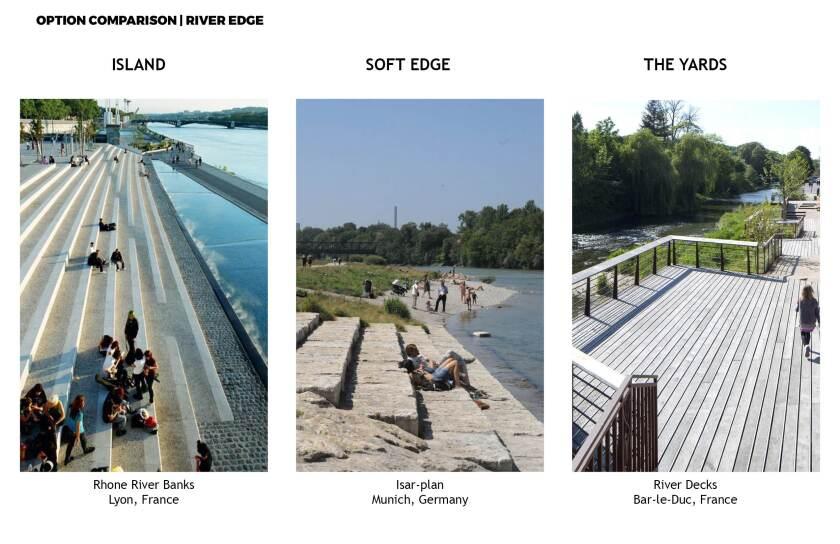 The L.A. River's edge