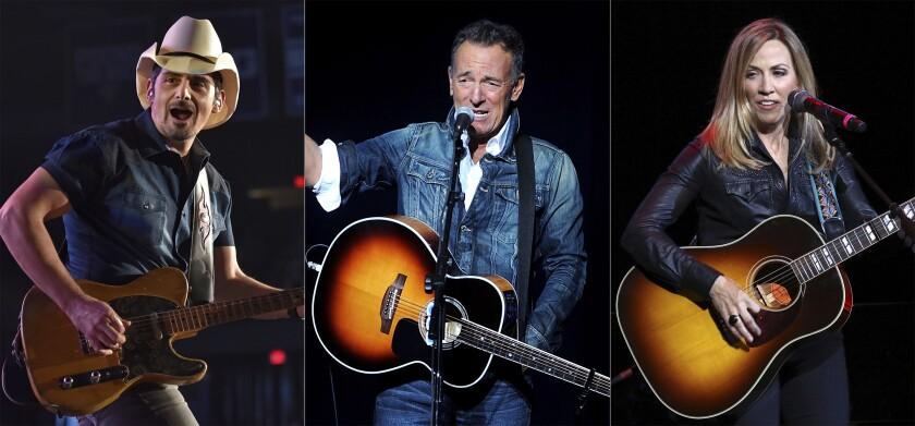 Brad Paisley, Bruce Springsteen y Sheryl Crow