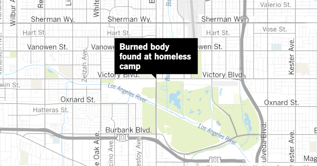 Burned body found in homeless camp in Van Nuys after multiple fire attacks on homeless in L.A.