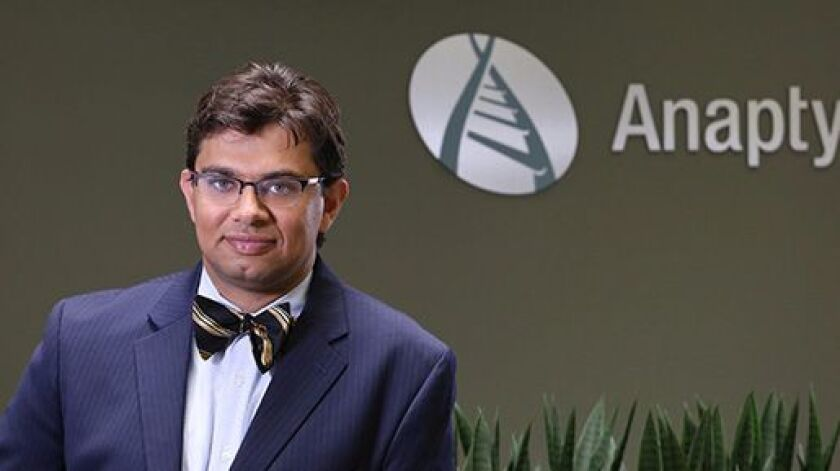 Hamza Suria President and CEO of AnaptysBio