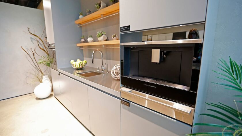 COSTA MESA, CALIF. -- TUESDAY, FEBRUARY 13, 2018: A view of a contemporary kitchen installation gea