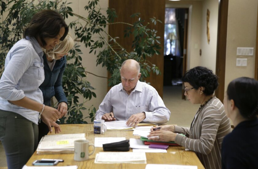 California Gov. Jerry Brown signed bills on Friday. (AP Photo/Rich Pedroncelli)