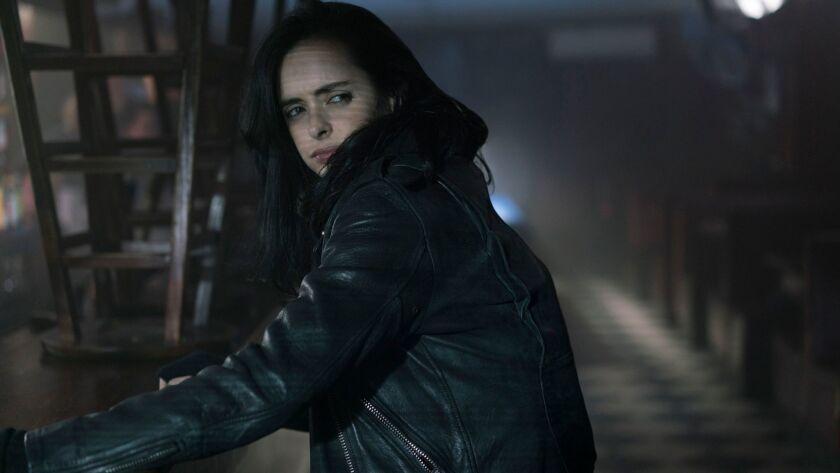 "Krysten Ritter as Jessica Jones in ""Marvel's The Defenders."""