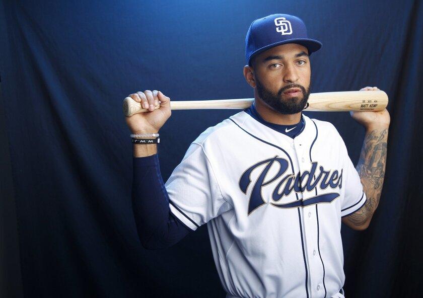San Diego Padres outfielder Matt Kemp.