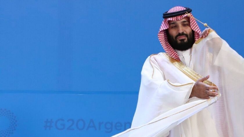 Saudi Arabia's Crown Prince Mohammed bin Salman at the Group of 20 summit in Argentina last year.