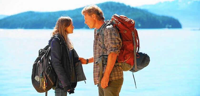 """Ella Purnell and Bruce Greenwood play strangers who form a bond while trekking across the Alaskan wilderness in """"Wildlike."""""""