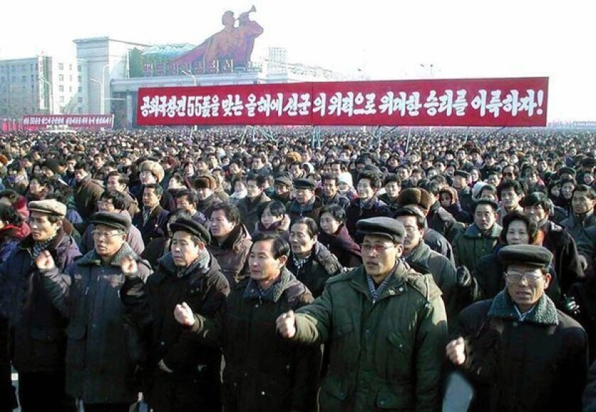 A rally in Pyongyang, North Korea, in 2003.