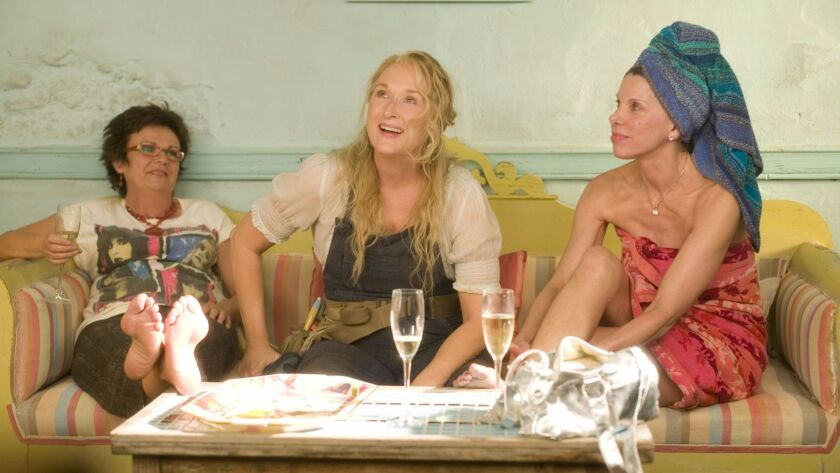"Julie Walters, from left, Meryl Streep and Christine Baranski in the 2008 movie ""Mamma Mia!"""