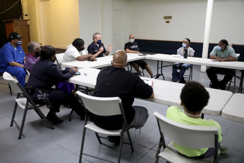 Black community leaders meet with LAPD Chief Michel Moore