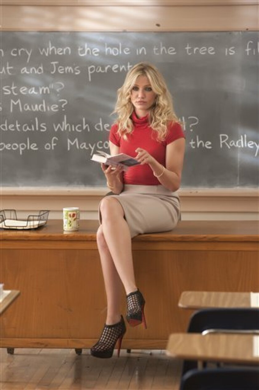 """In this film publicity image released by Columbia Pictures, Cameron Diaz is shown in a scene from """"Bad Teacher."""" (AP Photo/Columbia Pictures - Sony, Gemma LaMana)"""