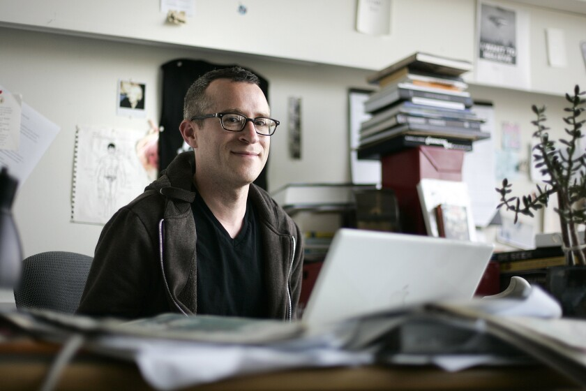 Eli Sanders, currently the associate editor at the Stranger in Seattle, after winning the Pulitzer Prize for feature writing in April 2012.