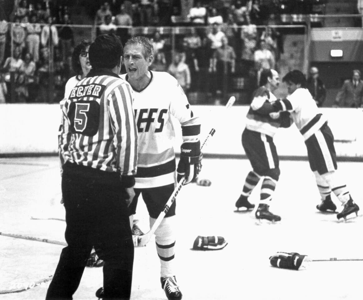 """""""Slap Shot,"""" starring Paul Newman (above) as player-coach of the Charlestown Chiefs, may be considered by some to be the quintessential hockey film. But there are many more. Let's put on the foil and take a look at some beauts, eh? (By Scott Sandell)"""