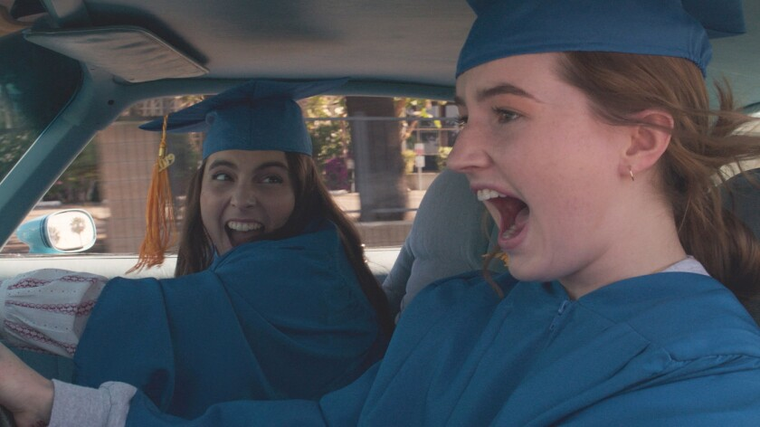 181108_Marketing_Stills_Car_RBeanie Feldstein stars as Molly and Kaitlyn Dever as Amy in Olivia Wild