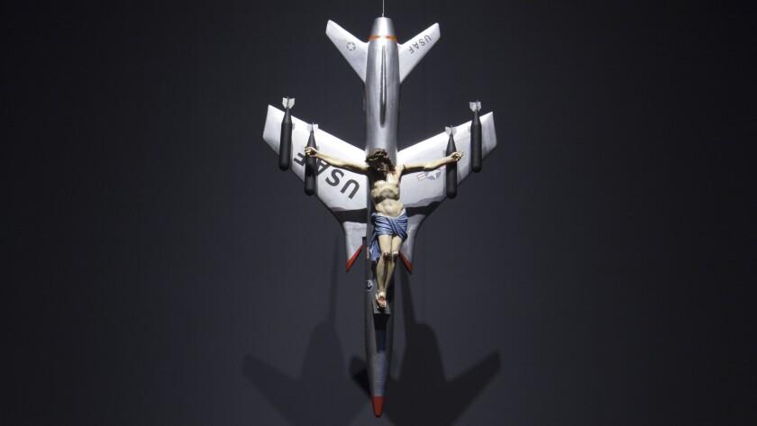 "Argentine artist León Ferrari's dramatic antiwar piece ""La Civilización Occidental y Cristiana"" (Western Christian Civilization) is at the Walker Art Center in Minneapolis."