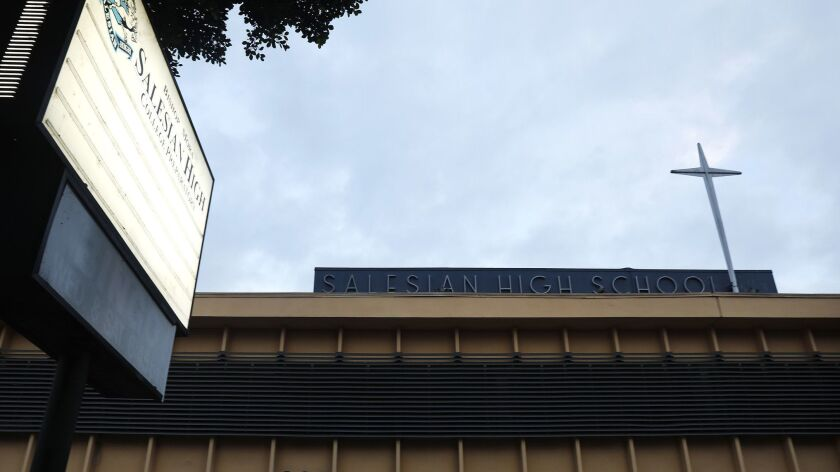 LOS ANGELES-CA-NOVEMBER 21, 2018: Salesian High School in Boyle Heights. (Christina House / Los Ange