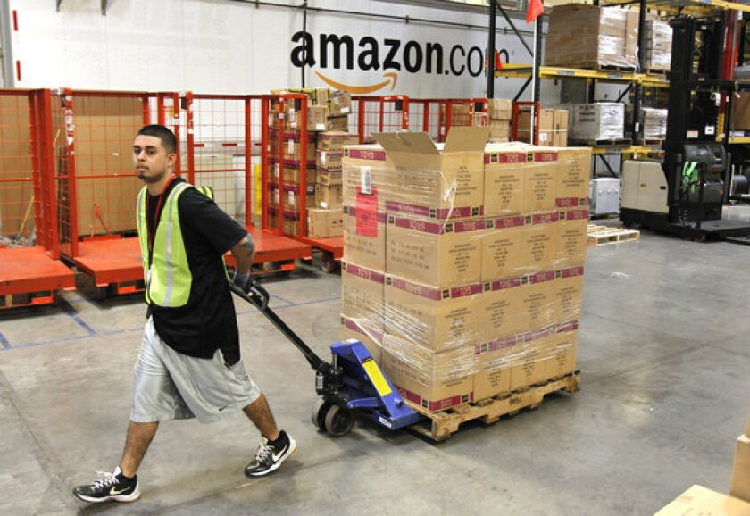 Amazon.com said it will hire more than 50,000 seasonal workers for the holidays.