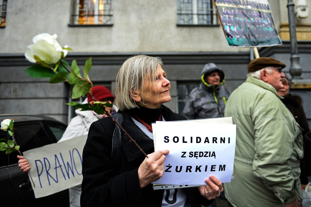 Pro-democracy demonstration in Katowice