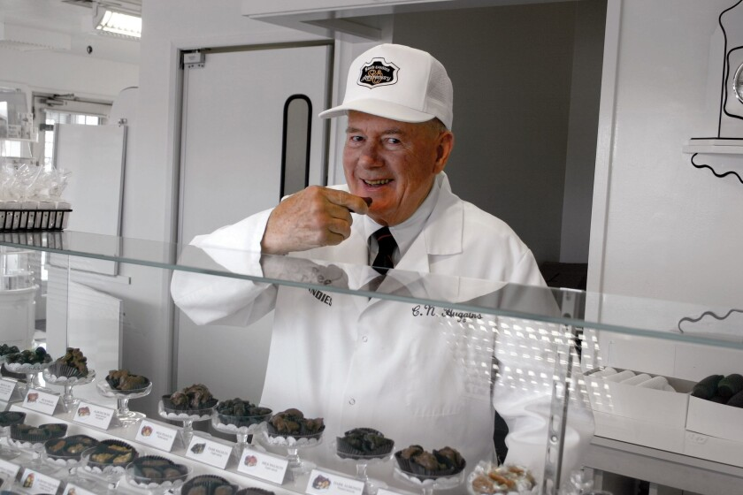 Charles N. Huggins, who served as president and CEO of Sees Candies from 1972 to 2006, continuing the traditions of the company founded in Los Angeles by Mary See and her family in 1921, has died. He was 87.