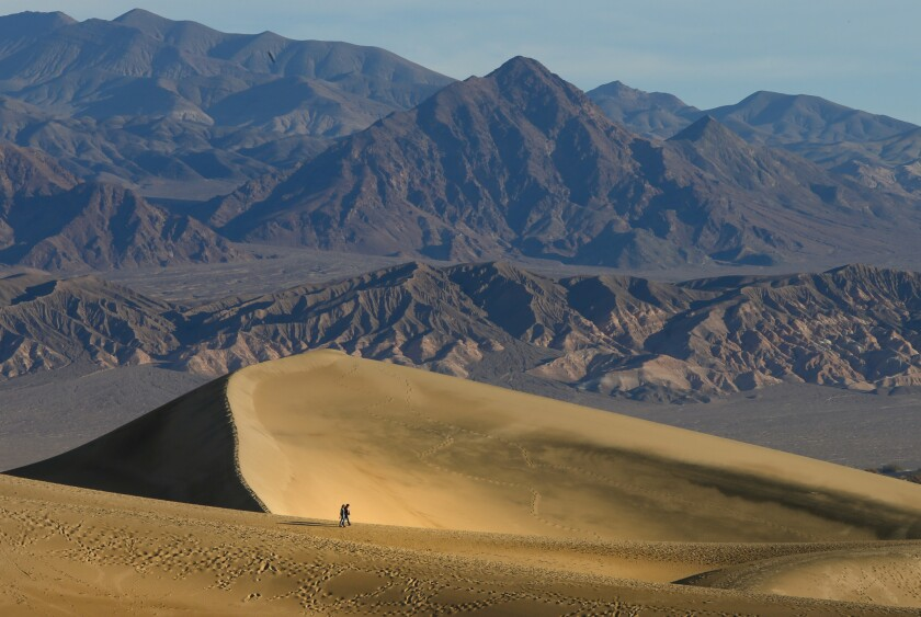 Temperatures in Death Valley are predicted to reach and pass 120 degrees this weekend.