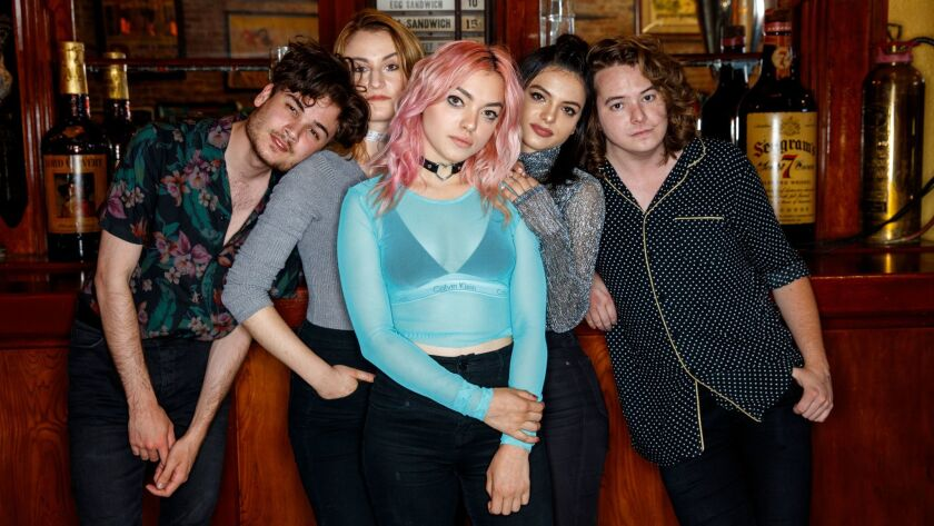 "HOLLYWOOD,CA --WEDNESDAY, JUNE 21, 2017--Members of the Los Angeles pop-rock band ""Hey Violet,"" incl"