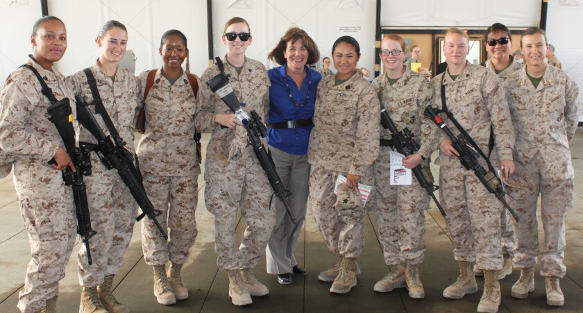 During a Mother's Day trip to Afghanistan last week, Rep. Susan Davis (D-San Diego) met with women serving in the U.S. military.