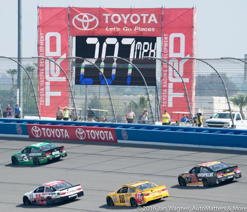 Racing in Turn 1 at 207 MPH