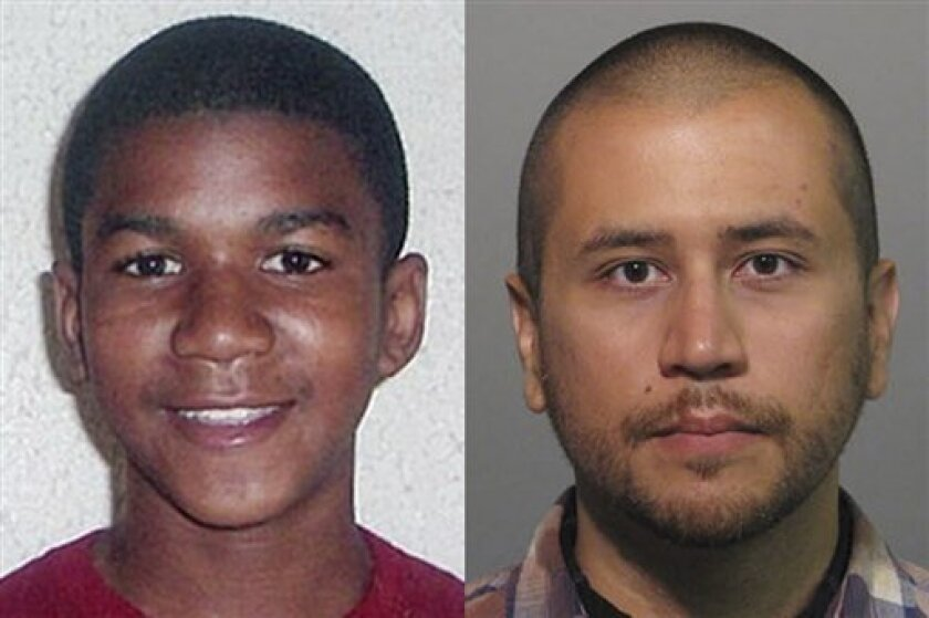 FILE -This combo made from file photos shows Trayvon Martin, left, and George Zimmerman. George Zimmerman, 28, the neighborhood watch volunteer who shot 17-year-old Trayvon Martin, was arrested and charged with second-degree murder. The central Florida suburb of Sanford is getting back to normal a