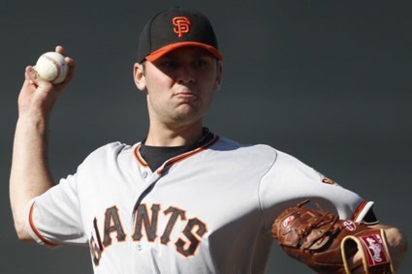 Brett Bochy has been called up to the Giants.