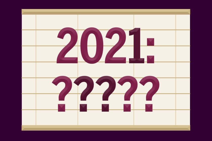 "An illustration with the phrase ""2021: ?????"""