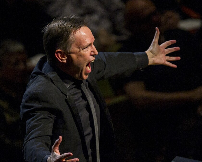 Los Angeles Master Chorale artistic director Grant Gershon