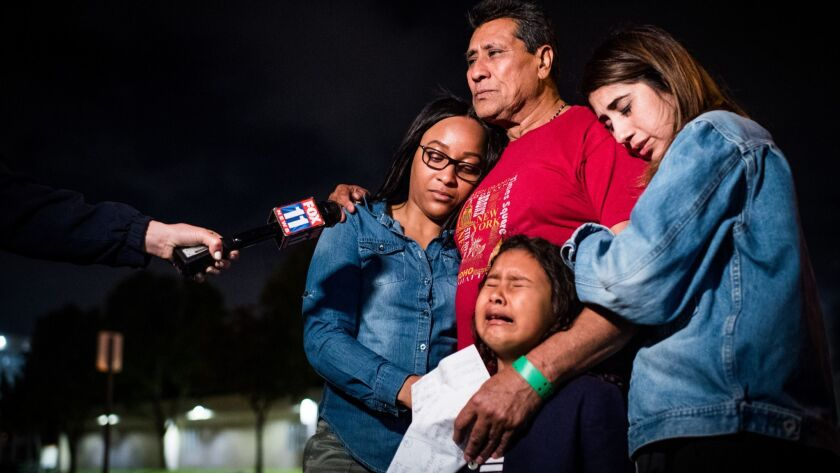 ARLETA, CA - June 29, 2018 After nearly three weeks of detainment, Jose Garcia is released to his f