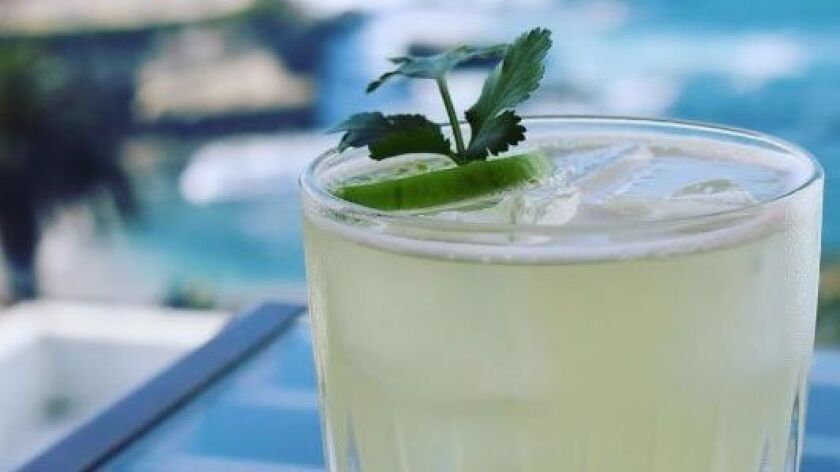 George's Level2 features the Mes de Verde cocktail, a twist on the classic margarita made with tequila and El Silencio Mezcal Espadin.