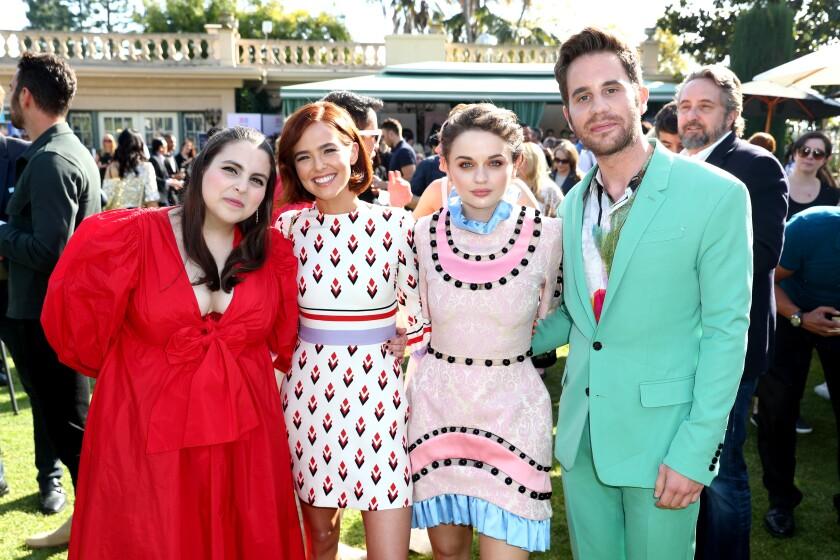 Beanie Feldstein, left, Zoey Deutch, Joey King and Ben Platt at Gold Meets Golden.