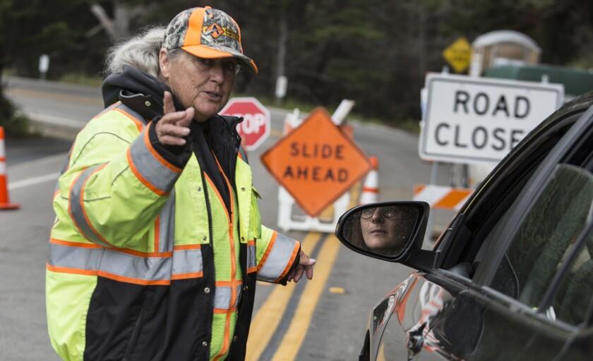 Big Sur landslide