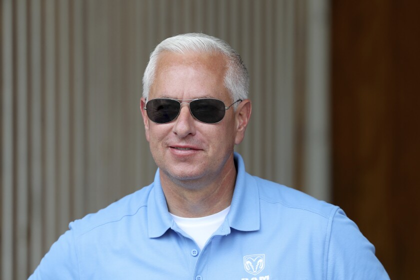 FILE - In this May 1, 2019, file photo, trainer Todd Pletcher smiles at Churchill Downs in Louisville, Ky. Pletcher earned his 5,000th career victory at Aqueduct on Friday, Nov. 6, 2020, in New York. Microsecond scored a three-quarter length victory in the seventh race. (AP Photo/Gregory Payan, File)