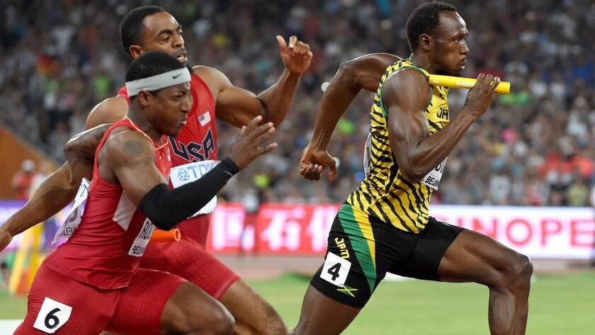 Usain Bolt, Tyson Gay, Mike Rodgers