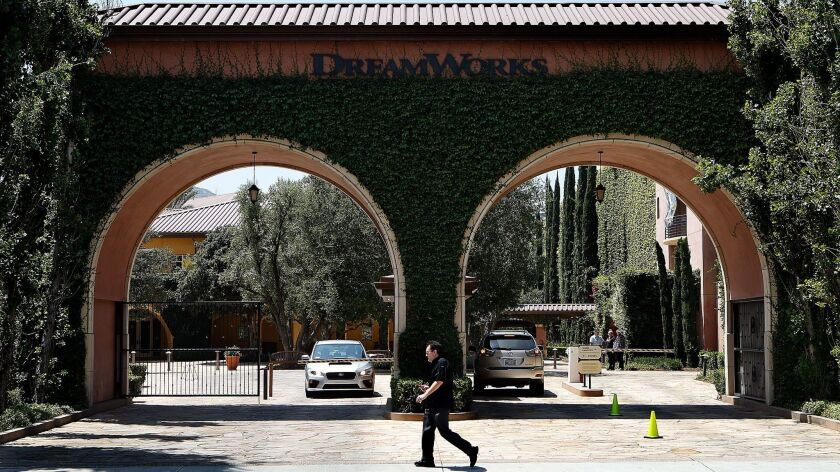 The DreamWorks Animation campus in Glendale, shown in April 2016, has five buildings with a combined 460,000 square feet of space.