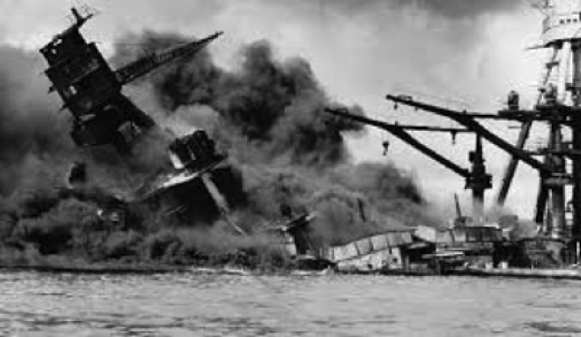 Attack on Pearl Harbor, Dec. 7, 1941.