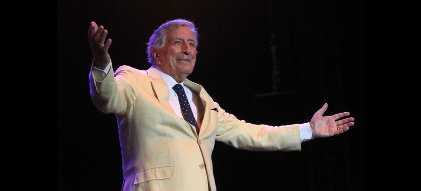 Tony Bennett is shown during his 2017 Bayside Summer Nights concert in San Diego.