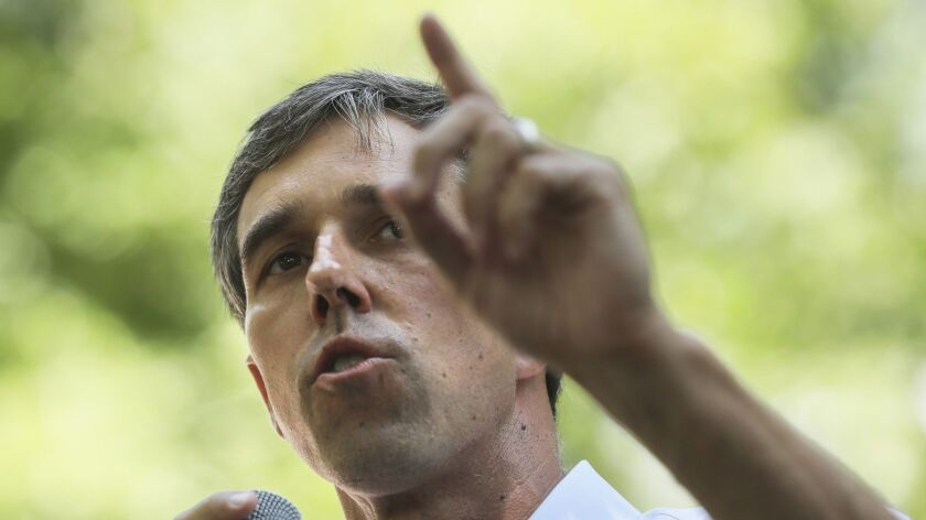 Democratic presidential candidate and former U.S. Rep. Beto O'Rourke speaks at a Democratic event in New Hampshire on Saturday.